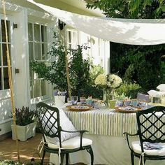 20 DIY Outdoor Curtains, Sunshades and Canopy Designs for Summer Decorating- a couple might work for the patio