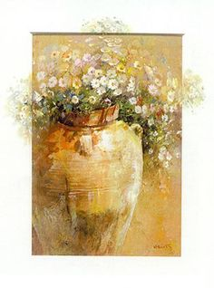 Shop for ''Flowers in a Pot II'' by Willem Haenraets Floral Art Print x in. Get free delivery On EVERYTHING* Overstock - Your Online Art Gallery Store! Acrylic Flowers, Abstract Flowers, Watercolor Flowers, Watercolor Paintings, Art Oil, Art Pictures, Flower Art, Art Prints, Acrylics