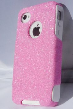 IPhone4 Otterbox Case, Bling iPhone 4 Case, Glitter Light Pink iPhone4S Case, iPhone 4s Case, iPhone4 Cover, iPhone4S Cover
