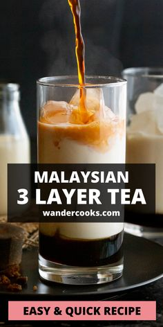 The popular Malaysian Teh C Peng Special recipe is here! This stunning 3 layer tea is icy and sweet, ready to cool you down on a hot day. Made from gula melaka syrup, evaporated milk and strong black tea – yum. Special Recipes, Quick Recipes, Quick Easy Meals, Easy Dinner Recipes, Vietnamese Iced Coffee, 5 Minute Meals, Fancy Drinks, Evaporated Milk, Cook At Home