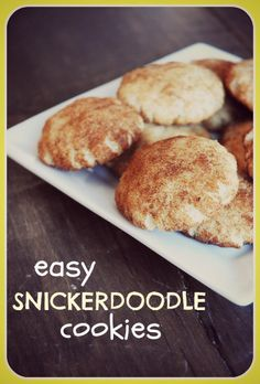 What's Christmas without Snickerdoodle cookies? This recipes is amazingly simple to make and the cookies taste delicious. Give them a try!