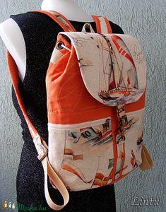 Textil hátizsák, vitorlás hajók (Lintu) - Meska.hu Textiles, Lany, Backpacks, Fashion, Moda, Fashion Styles, Backpack, Fabrics, Fashion Illustrations