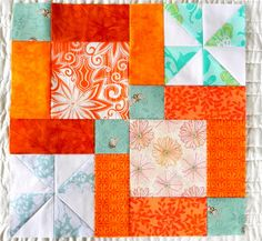 love this version of the pinwheel toss. The orange and aqua is great!