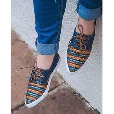 Para as garotas mais casuais recomendo esse tenis bordado cheio de estilo. #ValentinaFlats #shoes #fashion #loveit #loveshoes #shoeslover #flat #pretty #love #trend