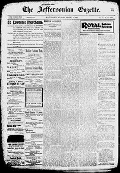 DOUGLAS COUNTY - Lawrence, Kansas - 1899-1918 - The Jeffersonian Gazette - Google News Archive Search