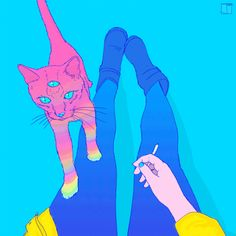 Картинки через We Heart It https://weheartit.com/entry/160510987/via/19806736 [анимация] #art #cat #draw