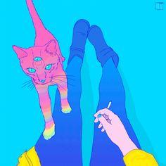 Картинки через We Heart It https://weheartit.com/entry/160510987/via/19806736 [анимация] #art #cat #draw
