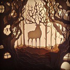 Happy 75th birthday Hayao Miyazaki. Thank you for inspiring souls like us. Sometimes your fantastical world makes more sense than the world we live in. //one of our earlier pieces (sold) #miyazaki #inspiration #miyazakifanclub #princessmononoke #forestspirit #handcutpaper #artgram #illustration #paperisalive #studioghibli #ghibli #hayaomiyazaki
