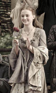Sansa Stark (Sophie Turner) 'Game of Thrones' Season 1, 2011. Costume design by Michele Clapton.