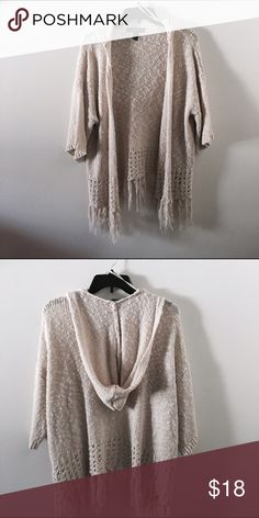 Hooded cardigan Guc! Super cute and perfect for fall! Forever 21 Sweaters Cardigans