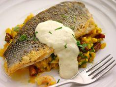 Sea Bass and chorizo risotto Recipe from Sunday Brunch