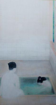 "baja-baja: "" Kobayashi Kokei, In The Bath, 1918 "" Japanese Illustration, Illustration Art, Japanese Painting, Japanese Prints, Japan Art, Photo Art, Art Photography, Art Gallery, Artwork"