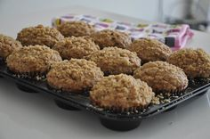 Banana Oatmeal Pecan Flaxseed Muffin with Streusel Topping