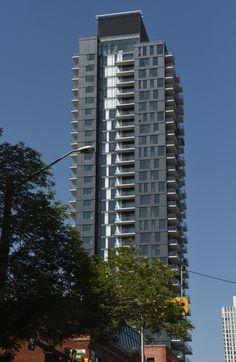 2017 July, July 17, Facade Design, Skyscrapers, Calgary, Condo, Buildings, Arch, Multi Story Building