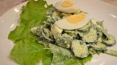 Весенний салат с огурцами и плавленым сырком