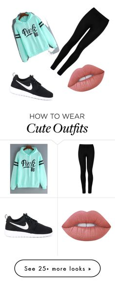"""Cute workout outfit"" by elleanora on Polyvore featuring NIKE, Wolford and Lime Crime"