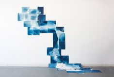 February 2017 Featured Artist: Perrine Mode: Scattered Light, an ongoing cyanotype installation, Fall Photography Sketchbook, Art Photography, Cyanotype Process, This Is Water, Alternative Photography, Poster Display, Art Plastique, Installation Art, Art Lessons