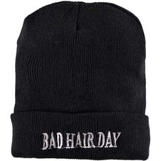 Boohoo Cara Bad Hair Day Slogan Beanie ($7) ❤ liked on Polyvore featuring accessories, hats, beanie, black, hair, beanie hats, acrylic hat, black beanie, black beanie hat and acrylic beanie hat