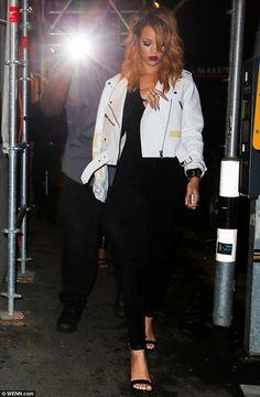Dazzling style: Rihanna looked a picture as she made her latest appearance for a night out in Zurich after performing another date of her Di...