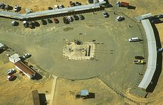 Four Corners Monument - I've been here! and put my body in all 4 states at the same time!   Only place in the USA where four states intersect (CO, NM, AZ, UT).    Montezuma County, Colorado,  AirPhoto