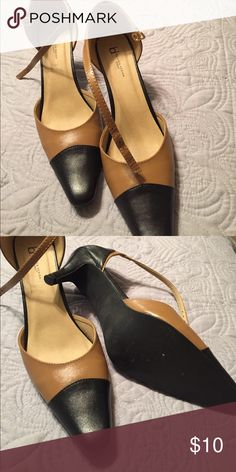 Like New Black/Camel Medium Heels Wore only a couple of times black and camel medium heels. Size 9 by Boston Design. I ordered these shoes but the color was not what I wanted. Like new condition. Boston Design Shoes Heels