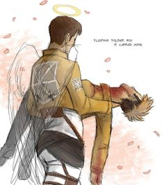 Attack on Titan ~~ I like to think that Marco is always hovering near Jean. Watching. Protecting. Hoping he'll survive. Ultimately, though... :: Jean x Marco