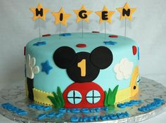 mickey mouse clubhouse cakes for birthdays | ... birthday cake holly golightly letter mexican chocolate bon bon cake