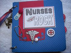 Scrapbook Mini Album NURSES ROCK w/ Premade Pages by ljbminis2021