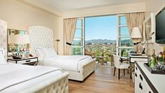Mr. C Beverly Hills: All guestrooms have stocked, private bars; here's a Premium Beverly Hills View Double.