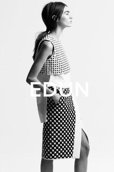 Edun Spring 2014 Model: Marine Deeleuw Photographer: Danielle Sherman