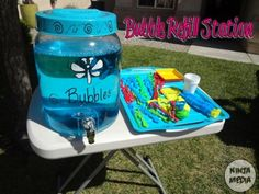 Never run out of bubble solution! Great for summer afternoons with the kids!