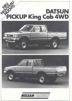 1984 Datsun Nissan King Cab 4x4 Pickup Brochure WD6220 4UNILW | eBay
