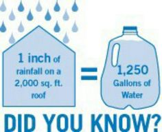 That's what I'm talkin about!!  Planning on adding a rainwater irrigation system to our home!!!  Good for growing veggies without wasting water!!!