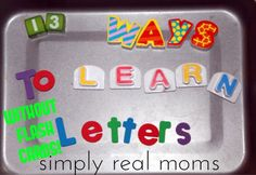 13 Ways to Learn Letters Without Flashcards Have a little one going to preschool or kindergarten? Give them a head start by teaching letters-without flashcards! Kindergarten Literacy, Early Literacy, Preschool Learning, Early Learning, Fun Learning, Preschool Ideas, Preschool Prep, Toddler Learning, Alphabet Activities