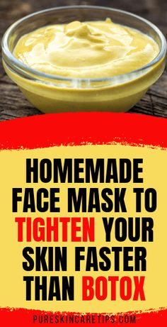 Here is a powerful Homemade Face Mask To Tighten Your Skin Faster Than Botox tha. Here is a powerful Homemade Face Mask To Tighten Your Skin Faster Than Botox that you can start using today at home Natural Beauty Tips, Natural Skin Care, Natural Lips, Beauty Care, Beauty Skin, Beauty Hacks, Beauty Makeup, Beauty Ideas, Beauty Guide