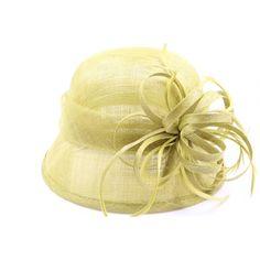 Chapeau Cérémonie Epicea en sisal Anis #weddinghat #fascinator #chapeaumariage @hatshowroom www.hatshowroom.com