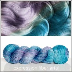 Expression Fiber Arts, Inc. - MERMAID HAIR SHIMMERING CASHMERE FINGERING, $34.00 (http://www.expressionfiberarts.com/products/mermaid-hair-shimmering-cashmere-fingering.html)
