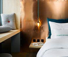 copper headboard