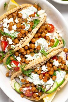 Easy Vegetarian Chickpea Gyros, these look so good!