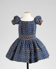 Girl's Dress 1850, American, Made of wool and silk