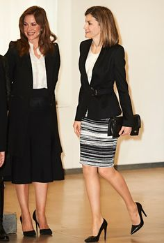 Queen Letizia of Spain attended the 'Por Un Enfoque Integral' forum (5th Forum Against Cancer) at the Telefonica Foundation on February 3, 2016 in Madrid, Spain.