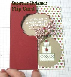 it's so easy using the new Stampin' Up! Thinlet Label dies to create the flip fold in one step. VIdeo tutorial included.  by Cindy Beach stampspaperandink.typepad.com