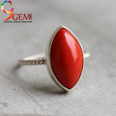 Coral Gemstone in sterling silver makes your look different