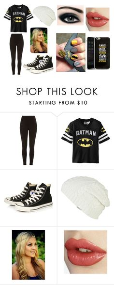 """Batman Fangirl"" by bubbles10272000 ❤ liked on Polyvore featuring River Island, Converse, RVCA, women's clothing, women, female, woman, misses and juniors"