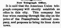 Genealogical Gems: On This Day: Telegraph office opens