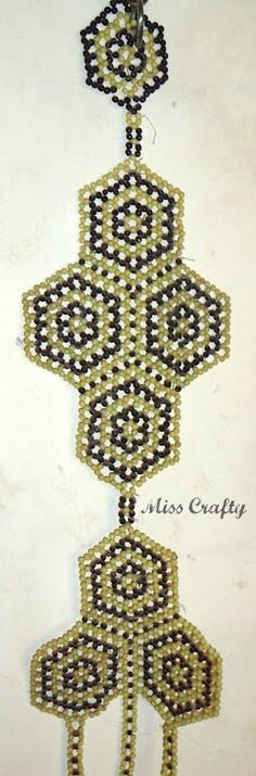 Hello crafters, This wall hanging was made by my mum some 30 odd years ago and is still a part of our house decor. Diy Craft Projects, Diy Crafts, Types Of Craft, Big Project, Craft Supplies, Beading, Drop Earrings, Fruit, Create