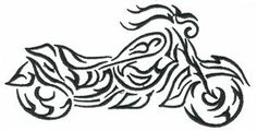 Scroll Motorcycle (HDMC21) Embroidery Design