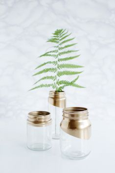Gold tipped jars 16