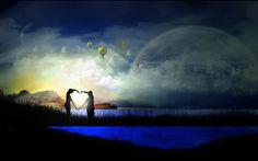 Wallpaper romântico casal em forma de sombra - Fotos e fotos|Seu portal de imagens grátis