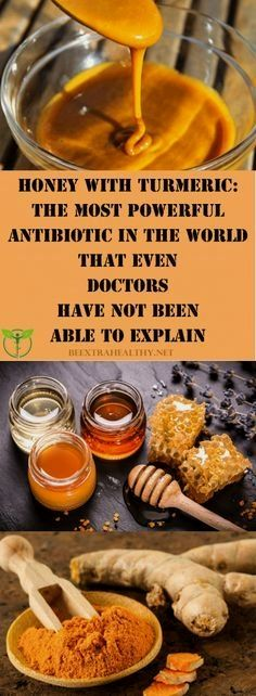 Honey with Turmeric: The Most Potent Antibiotic That not even Doctors Can Explain - Food Recipe Lover natural healing cavities Natural Health Tips, Natural Health Remedies, Natural Cures, Natural Healing, Holistic Remedies, Natural Honey, Health And Nutrition, Health And Wellness, Health Care
